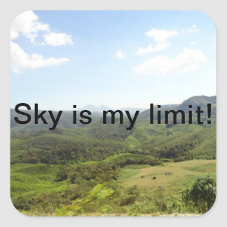Sky is my limit square sticker