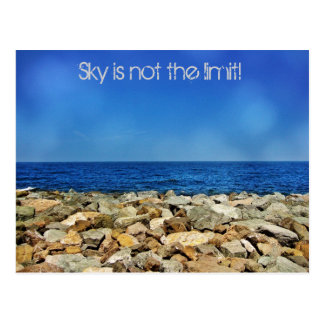 Sky is not the limit postcard