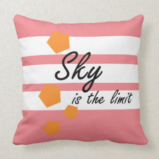 sky is the limit pink throw pillow