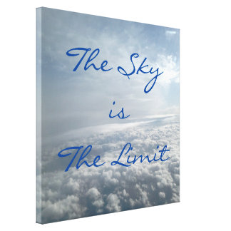 Sky is The Limit Plane View Heavenly Clouds Canvas