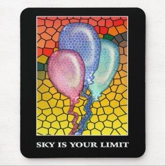 Sky is your limit-Motivational messages mousepads mousepad