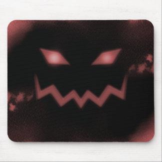 SKY JACK Pumpkin Jack-o-Lantern Face Red Mouse Pad