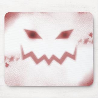 SKY JACK Spooky Jack O Lantern Face Wht Red Mouse Pad