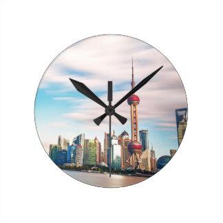 Sky Line Round Clock