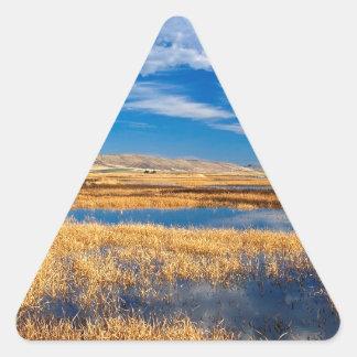 Sky Lower Klamath Lake Nature Triangle Sticker
