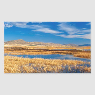 Sky Lower Klamath Lake Nature Rectangular Sticker