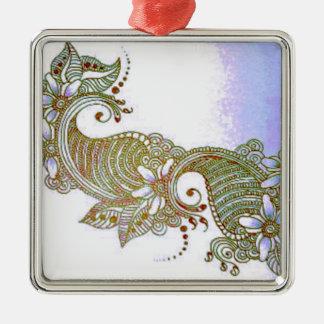 Sky Mehndi Metal Ornament
