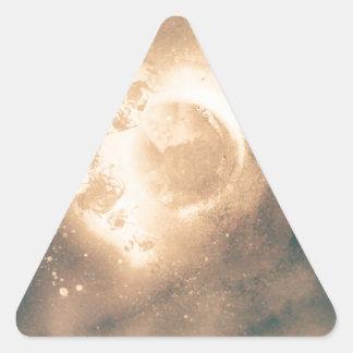 Sky moon triangle sticker