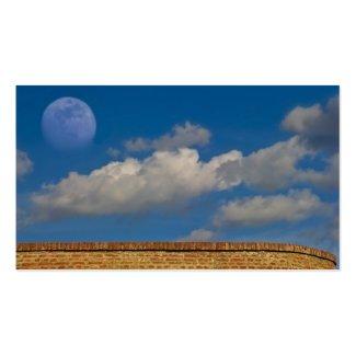 sky, moon, wall business card templates