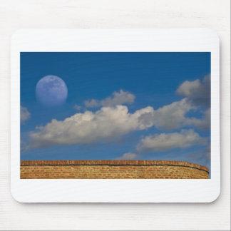 sky, moon, wall mouse pad