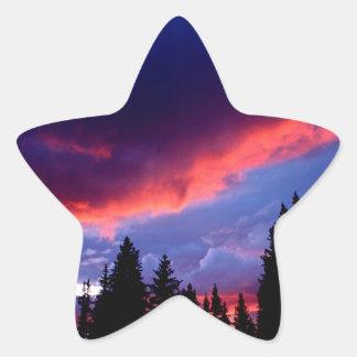 Sky Mount Evans Wilderness Colorado Star Sticker