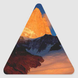 Sky Mount Fitzroy At Night Triangle Sticker