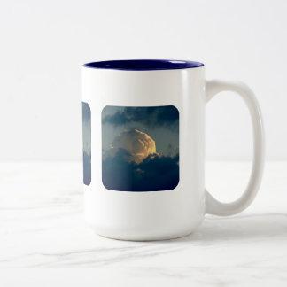 Sky Mushroom Two-Tone Coffee Mug