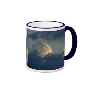 Sky Mushroom Ringer Coffee Mug
