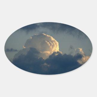 Sky Mushroom Oval Sticker