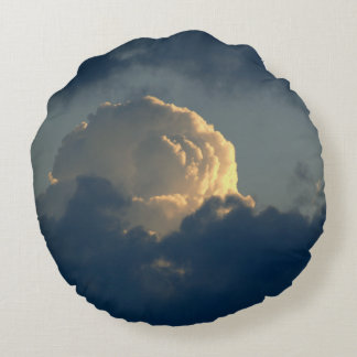 Sky Mushroom Round Pillow