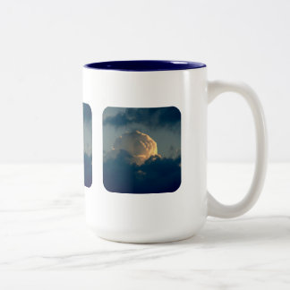 Sky Mushroom Two-Tone Coffee Mug