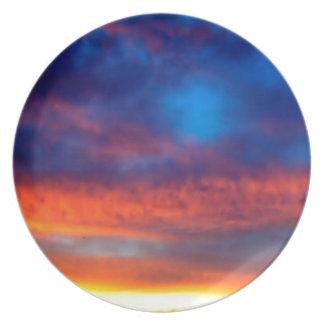 Sky Night Of Illuminations Dinner Plates