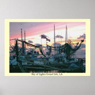 Sky of Lights Grand Isle LA Poster