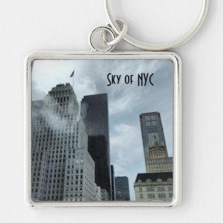 Sky of New York City Keychain