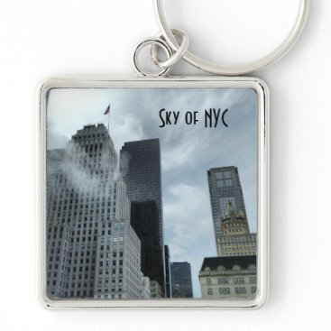 USA Themed Sky of New York City Keychain