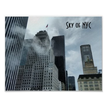 USA Themed Sky of New York City Poster