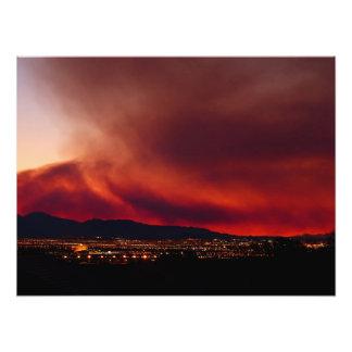 "Sky on Fire, Las Vegas, NV Poster 24x18"" Photo"
