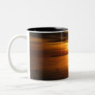 Sky On Fire Two-Tone Coffee Mug
