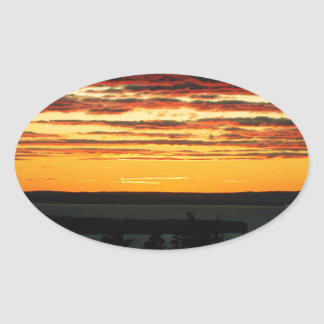 Sky Oval Sticker