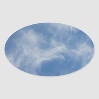 Sky Oval Sticker
