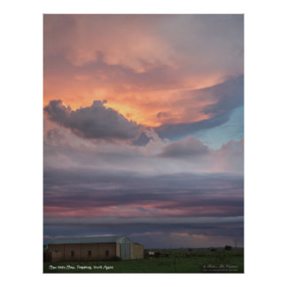 Sky Painted Clouds Poster
