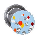 Sky Pandas Pinback Button