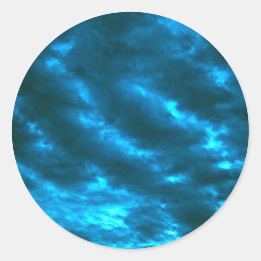 Sky Pegatina Redonda