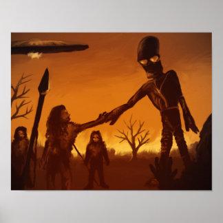 Sky People - 11x14 Fantasy Alien Poster Print