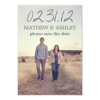 "Sky Photo Design Text Save The Date Announcements 5"" X 7"" Invitation Card"