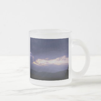 Sky Photography Frosted Glass Coffee Mug