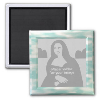 Sky Picture Frame Template 2 Inch Square Magnet