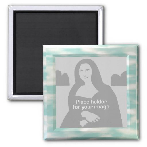 Sky Picture Frame Template Refrigerator Magnet Zazzle
