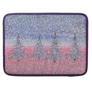 sky pink and snow MacBook pro sleeve