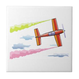 Sky Plane Flying Ceramic Tile