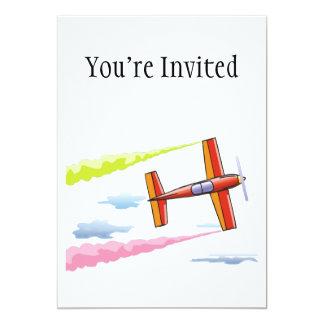 Sky Plane Flying 5x7 Paper Invitation Card
