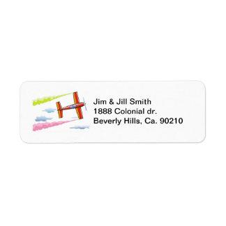 Sky Plane Flying Label