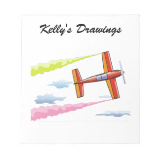 Sky Plane Flying Note Pad