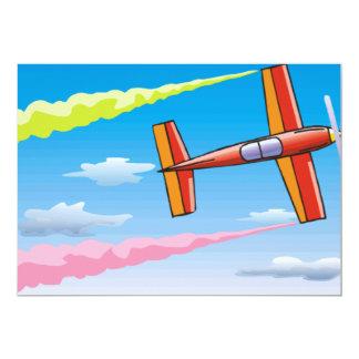 Sky Plane Set 5x7 Paper Invitation Card