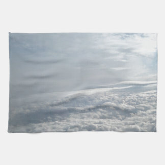 Sky, Plane View, Beautiful Clouds Hand Towels