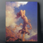 "Sky Plaque<br><div class=""desc"">A maiden stands on a mountain enjoying the beauty of the sky.</div>"