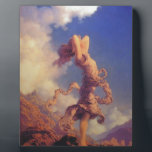 """Sky Plaque<br><div class=""""desc"""">A maiden stands on a mountain enjoying the beauty of the sky.</div>"""