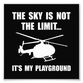 Sky Playground Helicopter Photo Print