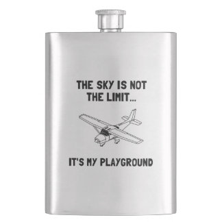 Sky Playground Plane Hip Flask