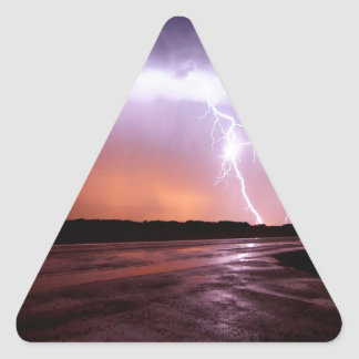 Sky Puple Storm Triangle Sticker